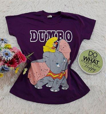 Camiseta No Atacado Dumbo Roxo