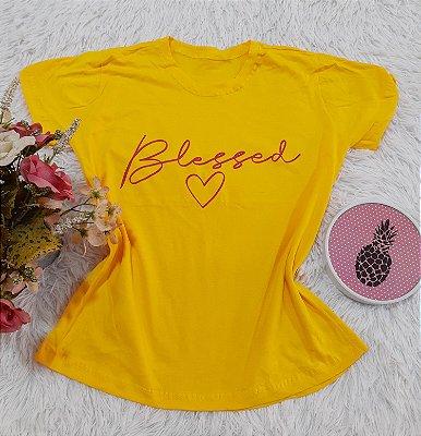 Camiseta No Atacado Blessed Amarelo