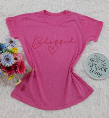 Camiseta No Atacado Blessed Pink