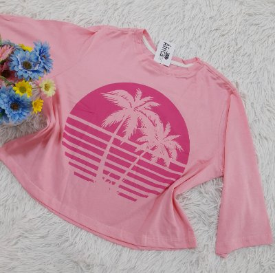 Camiseta No Atacado Coqueiros Rosa