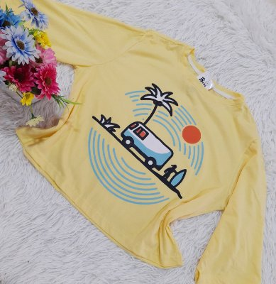 Camiseta No Atacado Kombi Amarela
