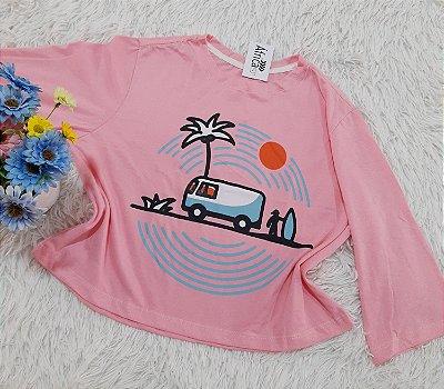 Camiseta No Atacado Kombi Rosa