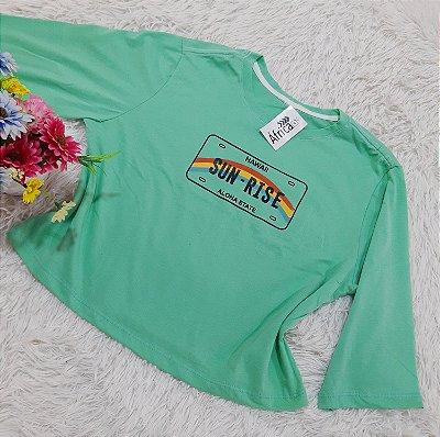 Camiseta No Atacado Sun-Rise Verde
