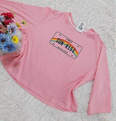 Camiseta No Atacado Sun-Rise Rosa
