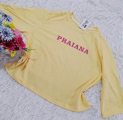 Cropped No Atacado Praianas Amarelo