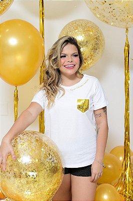 Camiseta No Atacado Bolso Dourado