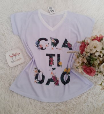 T-Shirt No Atacado Gratidao