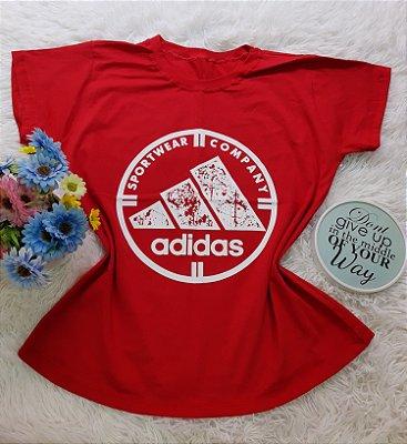 Camiseta No Atacado Adidas  Company Vermelho