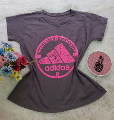 Camiseta No Atacado Adidas  Company  Rosa