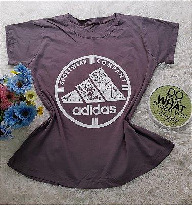 Camiseta No Atacado Adidas Company Cinza