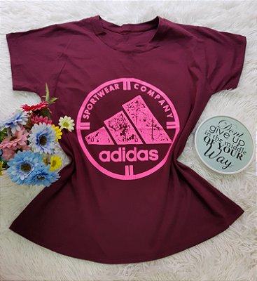 Camiseta No Atacado Adidas  Company Vinho