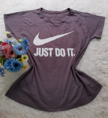 Camiseta No Atacado Just Do It Cinza