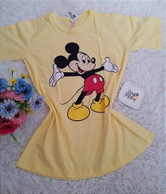 Blusão No Atacado Mickey Grande Amarelo Claro