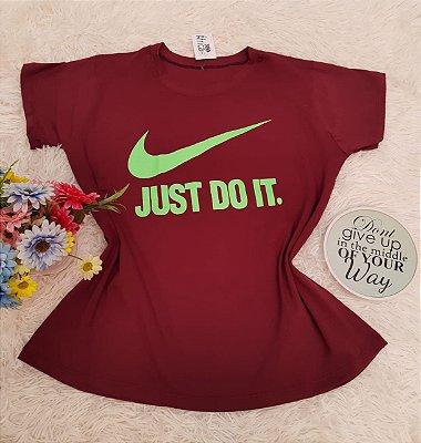 Camiseta No Atacado Just Do iT Neon