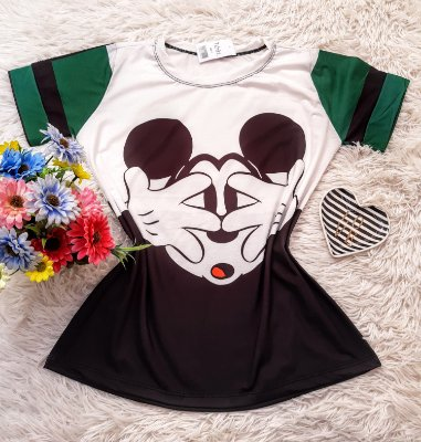 T-Shirt No Atacado Mickey Rosto