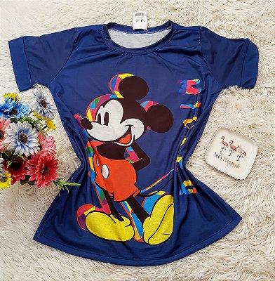 T-Shirt No Atacado Mickey Aquarela