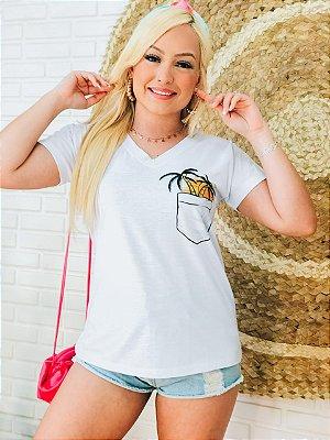 T-Shirt No Atacado Coqueiro No Bolso