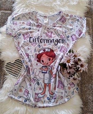 T shirt Feminina Profissão no Atacado Enfermagem Boneca