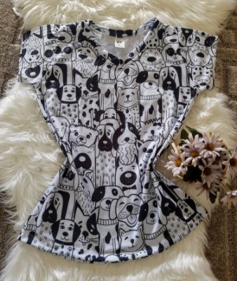 Blusa Feminina Estampa Animal no Atacado Dogs