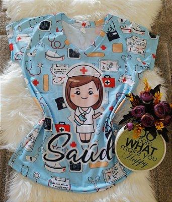 T shirt Feminina Profissão no Atacado Saúde Boneca