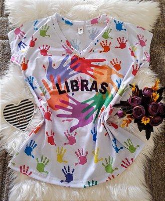 T shirt Feminina Profissão no Atacado Libras