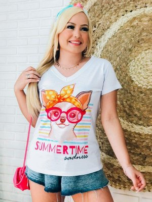 T-shirt Feminina Dog