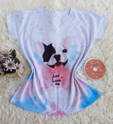 Blusa Feminina Estampa Animal no Atacado Dog Love