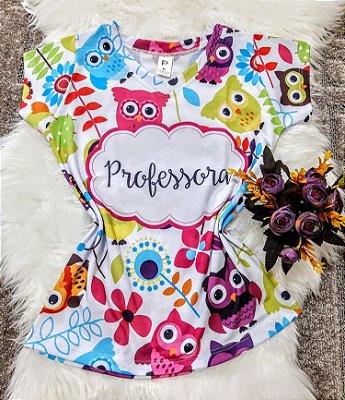 T shirt Feminina Profissão no Atacado Professora Corujas