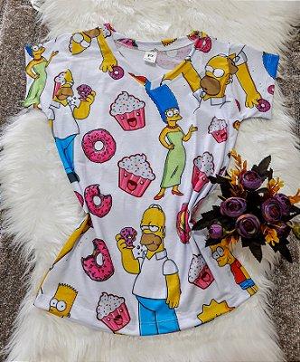 Camiseta Feminina Personagem No Atacado Simpsons