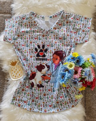 T shirt Feminina Profissão no Atacado Veterinária