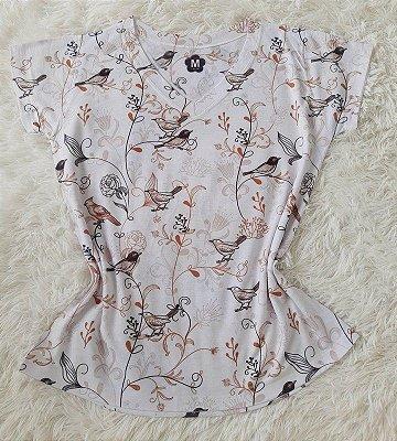 T-shirt Feminina Pássaros