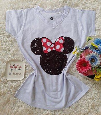T-shirt Feminina Minnie Cabeça
