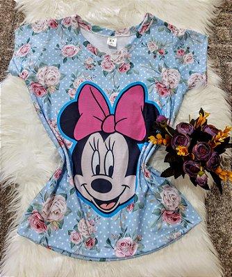 Camiseta Feminina Personagem No Atacado Minie Floral
