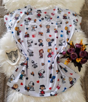 Camiseta Feminina Personagem No Atacado Turma Snoopy