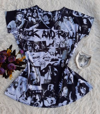 Blusa Feminina no Atacado Rock and Roll