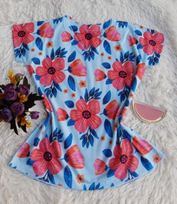 T-shirt Feminina Flores Rosas