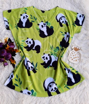 Blusa Feminina Estampa Animal no Atacado Pandas