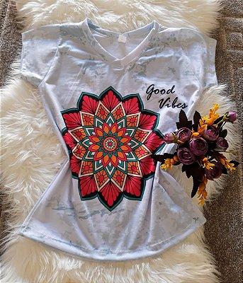 Blusas Femininas Diversas Mandala Good Vibes