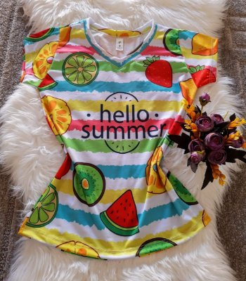 Blusas Femininas Diversas Hello Summer