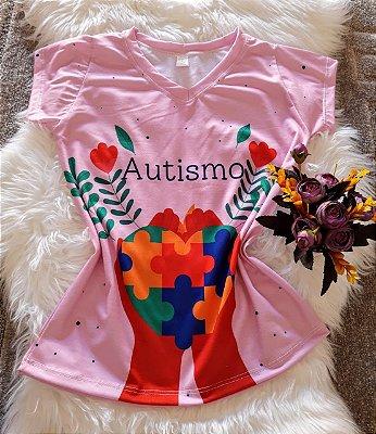 T shirt Feminina Profissões Autismo