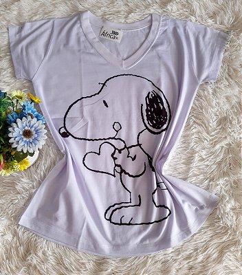 T shirt Feminina Básica no Atacado Snoopy