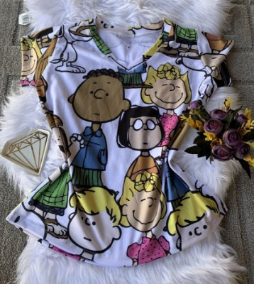 Camiseta Feminina No Atacado Personagens Turma do Snoopy