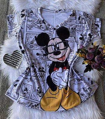 Camiseta Feminina Personagem No Atacado Mickey Jornal