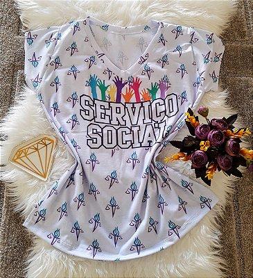 T shirt Feminina Profissão no Atacado Serviço Social