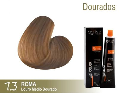 COLORAÇÃO 7.3 |LOURO MÉDIO DOURADO | ROMA - 60GR