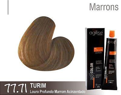 COLORAÇÃO 77.71|LOURO PROFUNDO MARROM ACINZENTADO | TURIM - 60GR