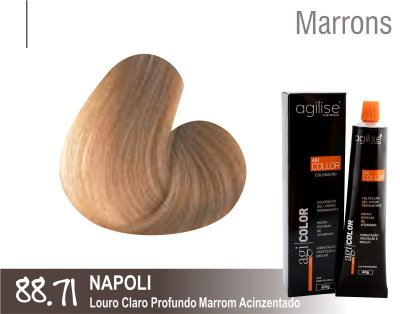 COLORAÇÃO 88.71 | LOURO CLARO PROFUNDO MARROM ACINZENTADO | NAPOLI - 60GR