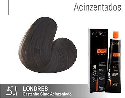 COLORAÇÃO 5.1 |CASTANHO CLARO ACINZENTADO | LONDRES - 60GR