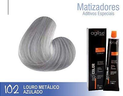 COLORAÇÃO 102 | ADITIVO LOURO METÁLICO AZULADO - 60GR