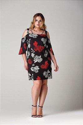 Vestido Taormina estampa floral oriental - VEV1704